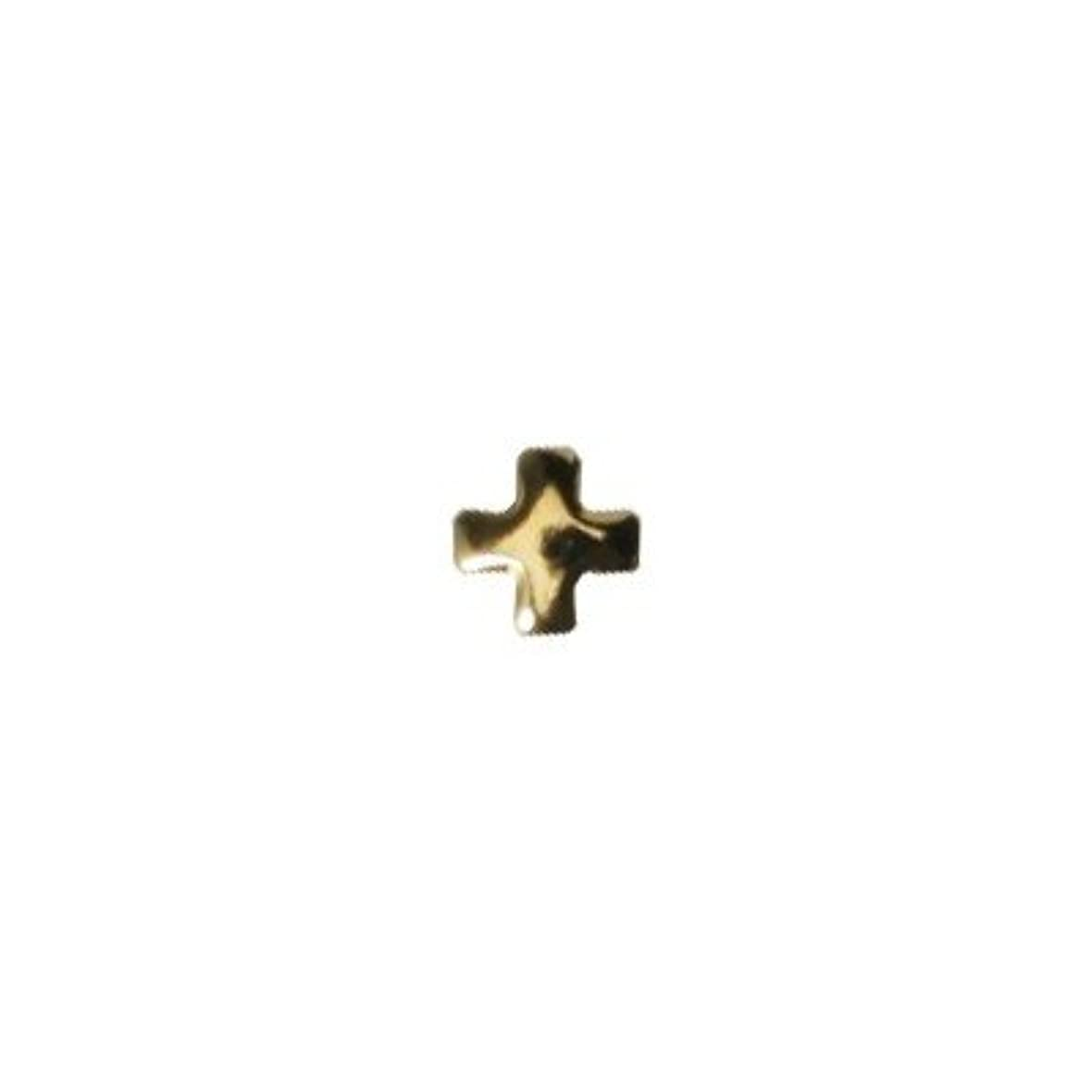 囲い死ぬ引き出すピアドラ スタッズ クロスレット 2mm 50P ゴールド
