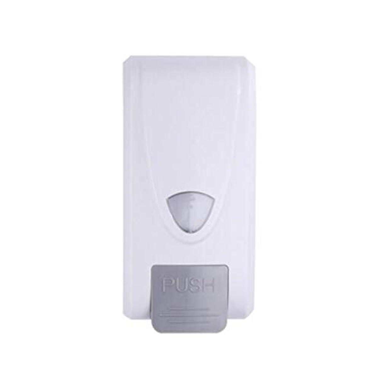 将来の重荷流Kylinssh 手動石鹸ディスペンサーキッチン浴室壁掛け石鹸ディスペンサー液体石鹸容器シャンプーゲルチャンバーディスペンサーシングルヘッドマニュアルプラスチック