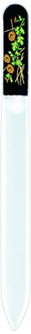 フェッチ密酸っぱい橋本漆芸 ブラジェク製高級爪ヤスリ 十月 菊 紙箱