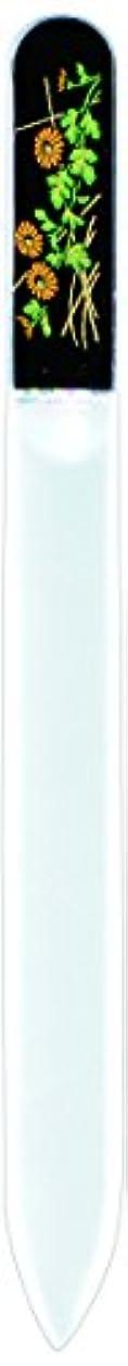 グッゲンハイム美術館密四分円橋本漆芸 ブラジェク製高級爪ヤスリ 十月 菊 紙箱