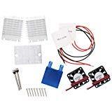 熱電 ペルチェ モジュール 水冷 冷却システム DIY キット ヒートシンク 導電モジュール + ファン2個 + TEC1-1270 2個