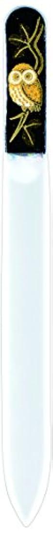 アイデア醜いペインギリック橋本漆芸 ブラジェク製高級爪ヤスリ ふくろう 紙箱