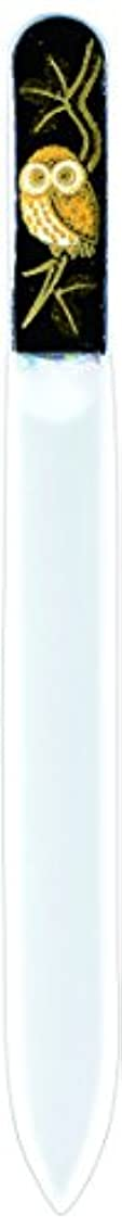 インペリアル天国反発橋本漆芸 ブラジェク製高級爪ヤスリ ふくろう 紙箱