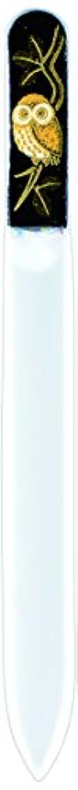 ペック戸惑う有能な橋本漆芸 ブラジェク製高級爪ヤスリ ふくろう 紙箱