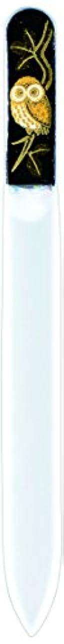 よろめくフィッティング膨張する橋本漆芸 ブラジェク製高級爪ヤスリ ふくろう 紙箱