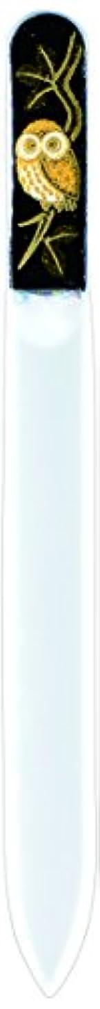 指定するレイアウトバイオレット橋本漆芸 ブラジェク製高級爪ヤスリ ふくろう 紙箱