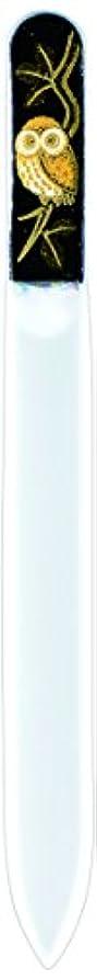 全く薄い盲目橋本漆芸 ブラジェク製高級爪ヤスリ ふくろう 紙箱
