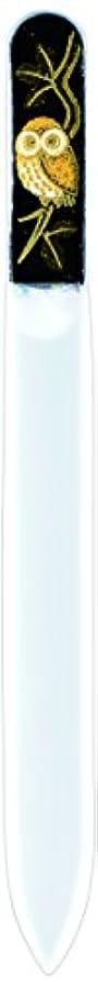 マルコポーロシティ無視橋本漆芸 ブラジェク製高級爪ヤスリ ふくろう 紙箱