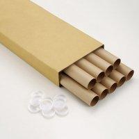 [해외]제도 용지 관 (폴리 뚜껑) A2 (550mm) 1 상자 (9 개)/Drawing paper tube (with poly lid) A 2 (550 mm) 1 box (9 pieces)