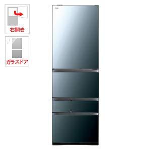 東芝 501L 5ドア冷蔵庫(クリアミラー)【右開き】TOSHIBA GR-R500GW-XK