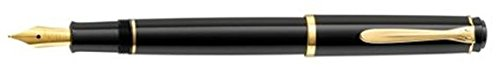 Pelikan Classic p200カートリッジFill万年筆,ブラック,ゴールドトリム、細かいペン先