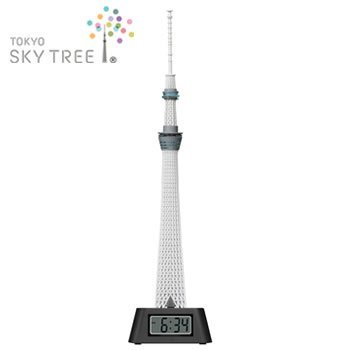 東京スカイツリー(R) LEDライト付き フィギュアクロック (置時計) 【J92231】