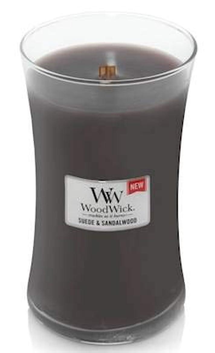 揺れるオアシス保育園WoodWick スエードサンダルウッド 22オンス 香り付きキャンドル