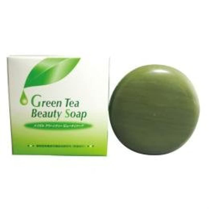 立派な消毒剤過度のエイゼル グリーンビューティソープ 100g×3個セット ネット付き スキンケア 洗顔 石けん