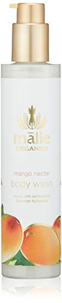 紫の回復する億Malie Organics(マリエオーガニクス) ボディウォッシュ マンゴーネクター 222ml