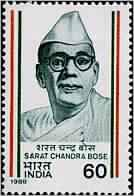 Sarat Chandra Bose Personality, Freedom Fighter, Politician, Indian National Army, Indian National Congress, Cap, Headgear 60 P. Indian Stamp