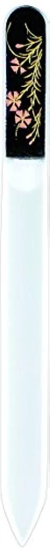 月曜早熟グレー橋本漆芸 ブラジェク製高級爪ヤスリ 八月 撫子 紙箱