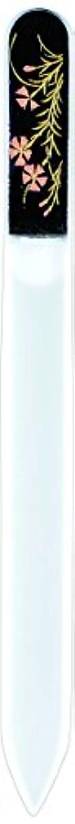 癒すトチの実の木レシピ橋本漆芸 ブラジェク製高級爪ヤスリ 八月 撫子 紙箱