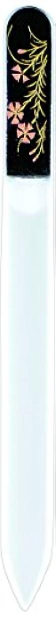 ご近所症候群息切れ橋本漆芸 ブラジェク製高級爪ヤスリ 八月 撫子 紙箱