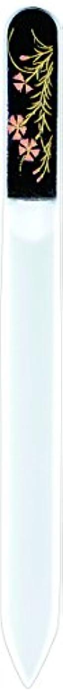 四分円グラム比類のない橋本漆芸 ブラジェク製高級爪ヤスリ 八月 撫子 紙箱