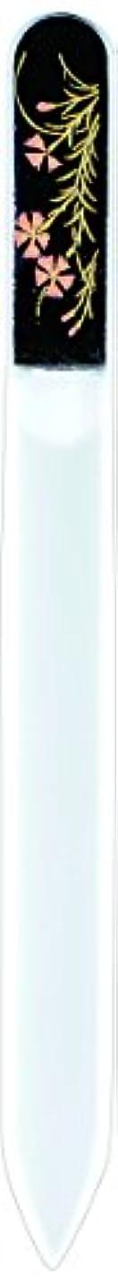 妻彼女のプランテーション橋本漆芸 ブラジェク製高級爪ヤスリ 八月 撫子 紙箱