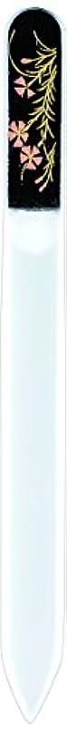 トロリーバス夢中発症橋本漆芸 ブラジェク製高級爪ヤスリ 八月 撫子 紙箱
