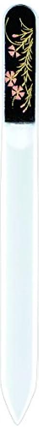 良い大邸宅フェロー諸島橋本漆芸 ブラジェク製高級爪ヤスリ 八月 撫子 紙箱