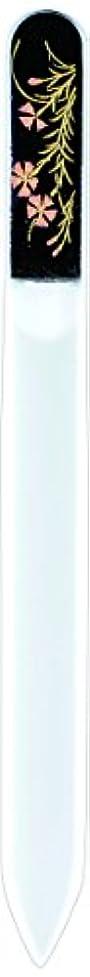 バーター昼間ありふれた橋本漆芸 ブラジェク製高級爪ヤスリ 八月 撫子 紙箱
