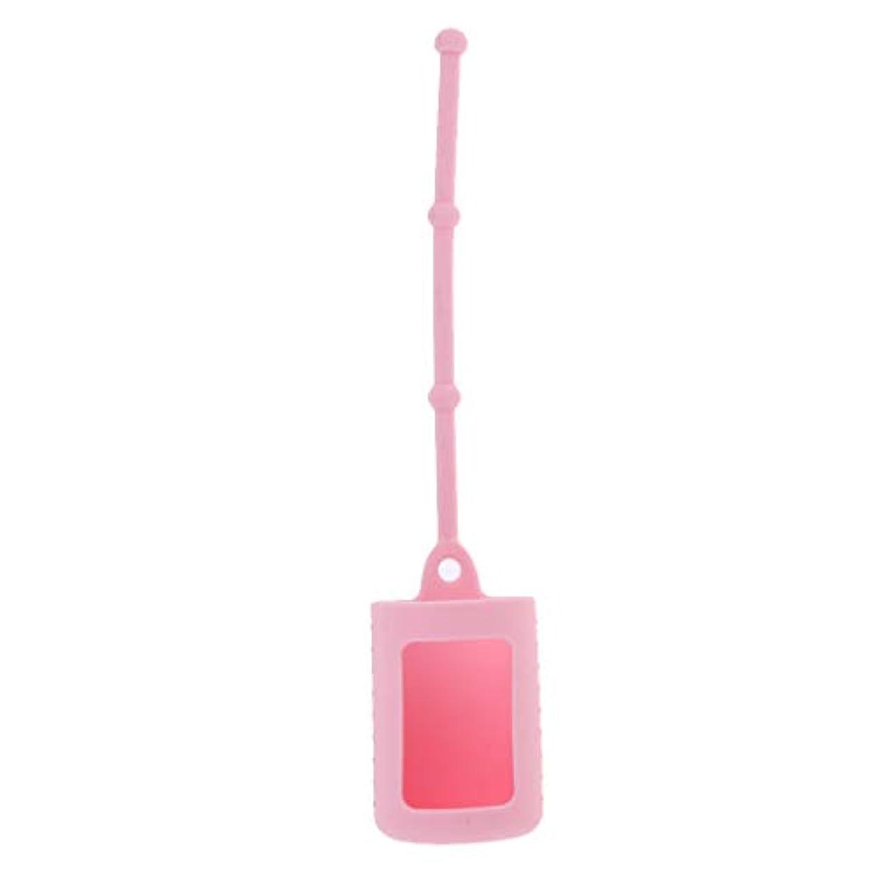 宿題服ペンボトルホルダー シリコンスリーブ 15ミリリットル ローラーボトル用 6色選べ - ピンク