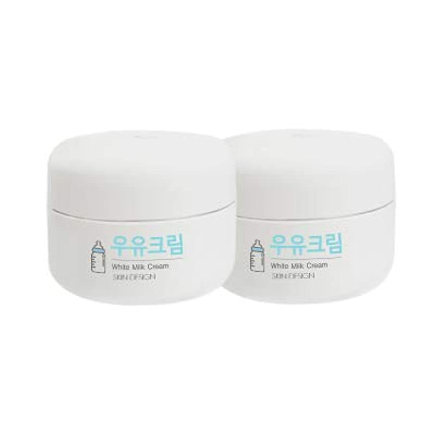 ヒールブリーク優先権【2個】【SKIN DESIGN】 スキンデザイン 牛乳クリーム 2個セット WHITE MILK CREAM 韓国 ウユクリーム