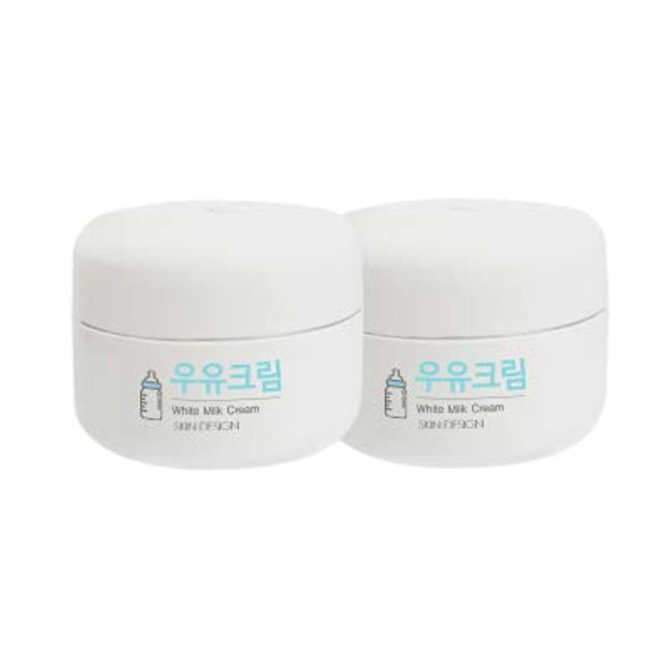 同行迷路スーパー【2個】【SKIN DESIGN】 スキンデザイン 牛乳クリーム 2個セット WHITE MILK CREAM 韓国 ウユクリーム