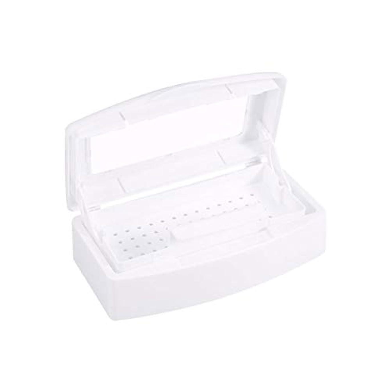重くする心理的署名殺菌消毒ペディキュアネイルネイルを殺菌ネイル清掃用具の収納ボックス