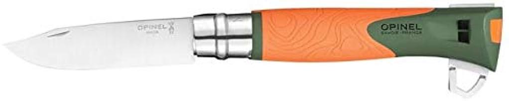 極端な光沢のある元気Opinel No 12 Exploreステンレスオレンジ002143