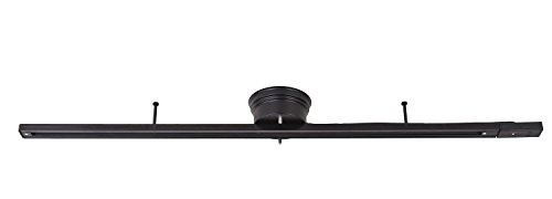 TAKUMI LIGHT (工場直販店) 簡易取付式ダクトレール 配線ダクト インテリアダクトレール 一般家庭対応 取付簡易型ライティングレール ライティングバー シーリング型 1m (レール, ブラック)
