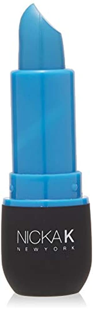 潮縫い目疲労NICKA K Vivid Matte Lipstick - NMS09 Slate Blue (並行輸入品)