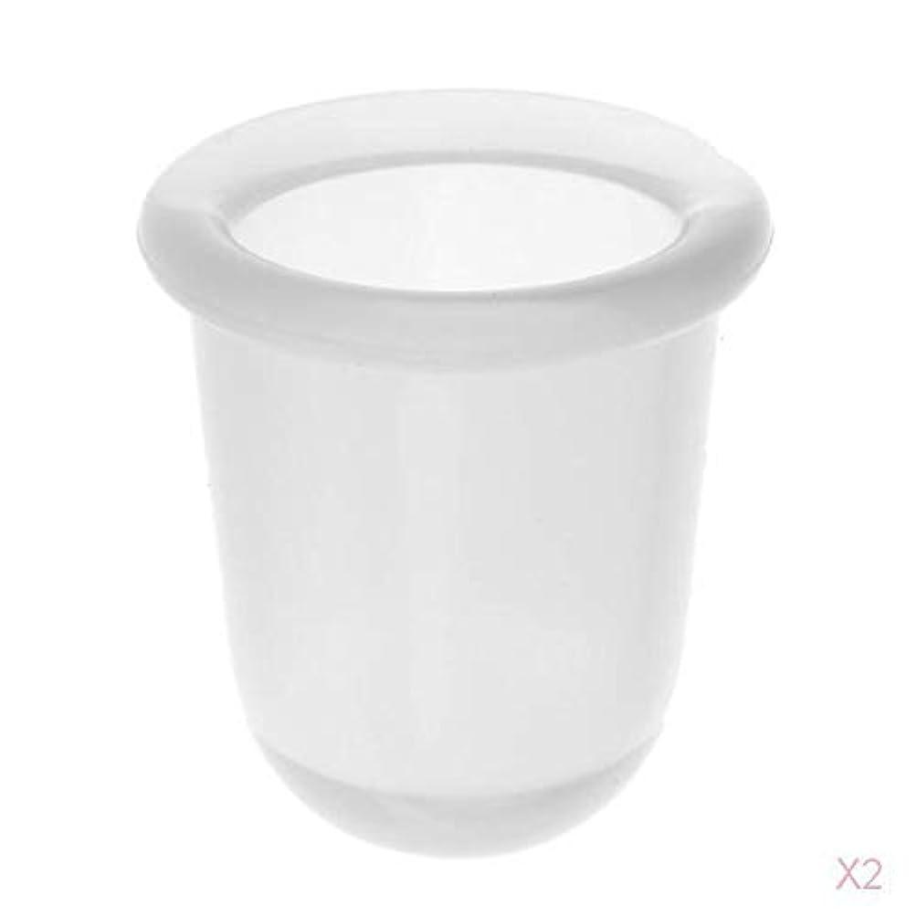 必需品下保護マッサージカップ 真空カップ シリコーン製 ボディマッサージ 全2色 - クリア