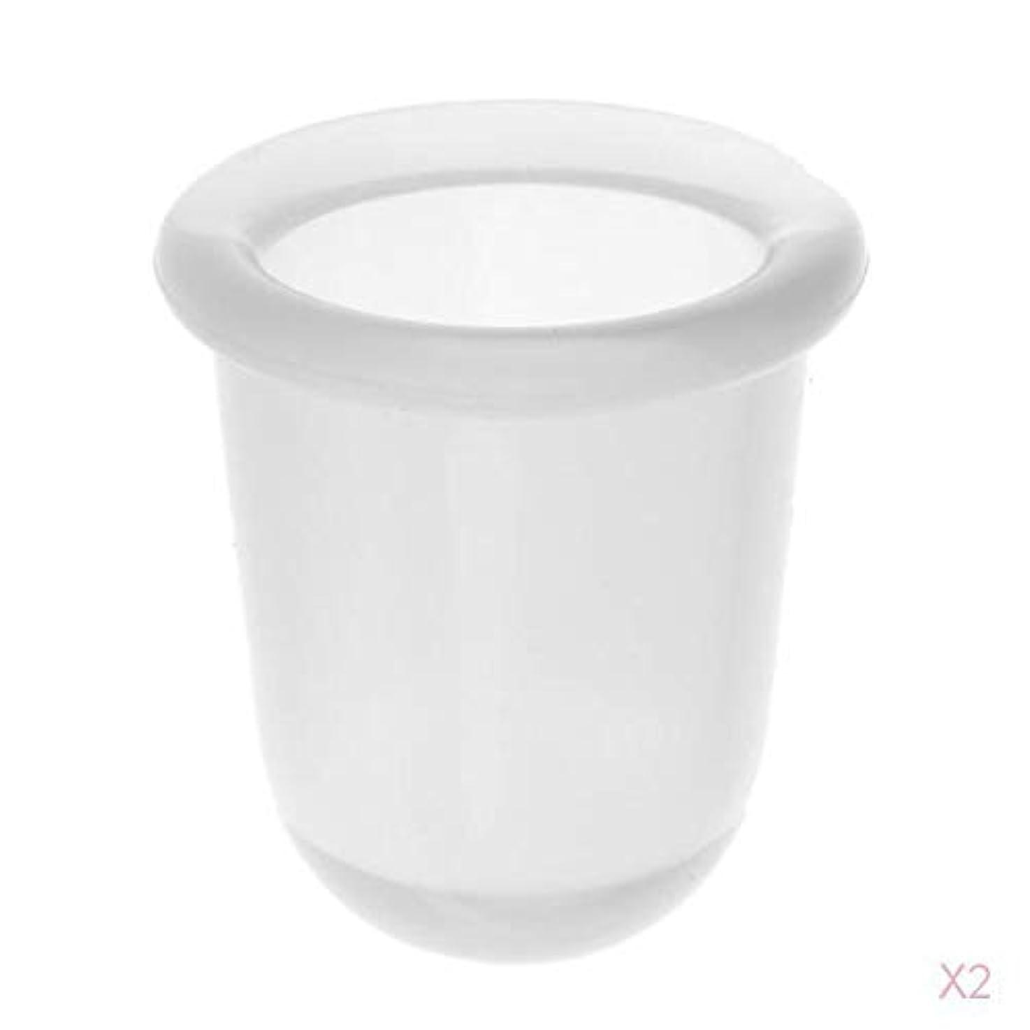 目を覚ます米国人口マッサージカップ 真空カップ シリコーン製 ボディマッサージ 全2色 - クリア