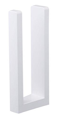 山崎 YAMAZAKI 山崎実業 キッチンペーパーホルダー ストッパー付きマグネットキッチンペーパーホルダー タワー ホワイト 3398