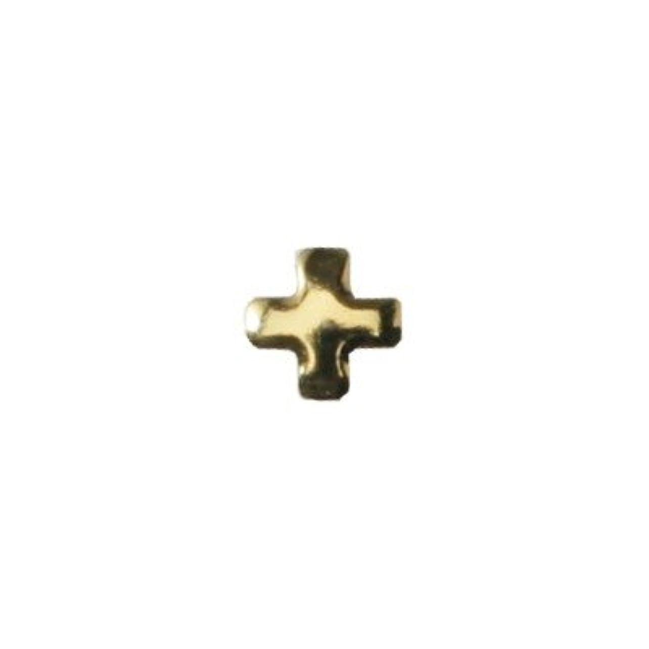 店員サイレン本ピアドラ スタッズ クロスレット 3mm 50P ゴールド