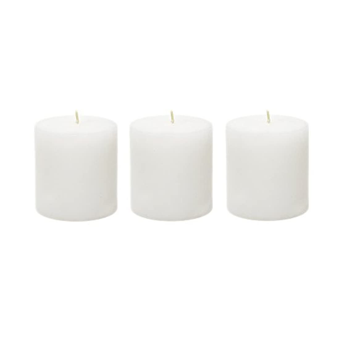 捨てる週間祖母(6, 7.6cm x 7.6cm Round) - Mega Candles - Unscented 7.6cm x 7.6cm Hand Poured Round Premium Pillar Candle - White