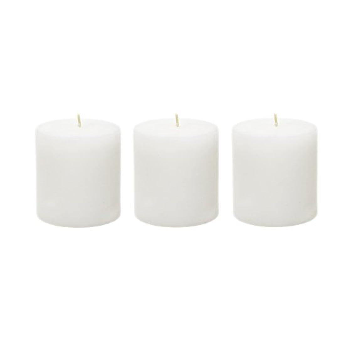 テメリティコンプライアンスグリル(6, 7.6cm x 7.6cm Round) - Mega Candles - Unscented 7.6cm x 7.6cm Hand Poured Round Premium Pillar Candle - White