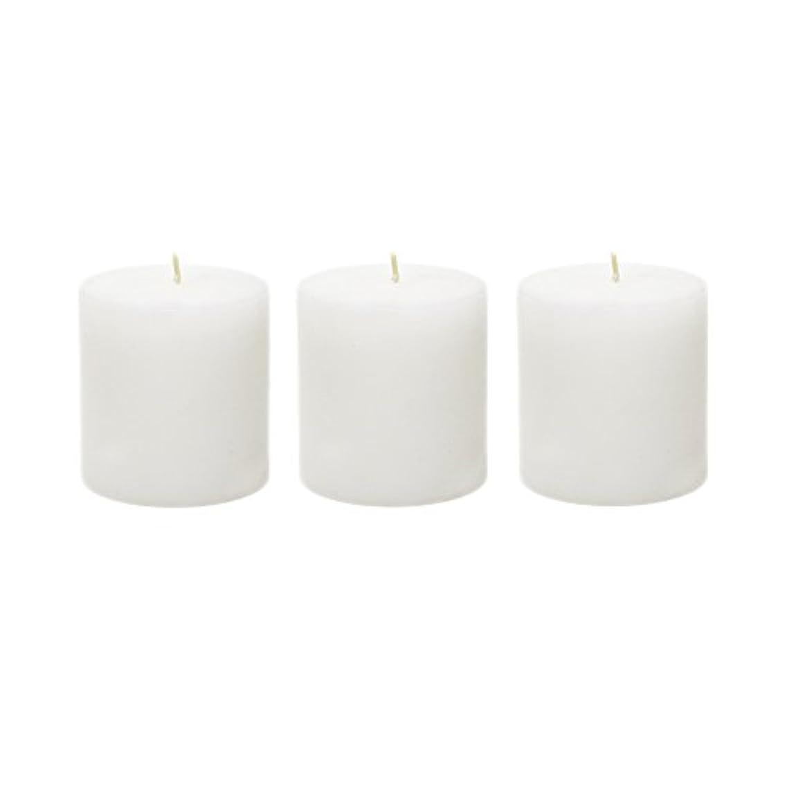 社会科手偽造(6, 7.6cm x 7.6cm Round) - Mega Candles - Unscented 7.6cm x 7.6cm Hand Poured Round Premium Pillar Candle - White