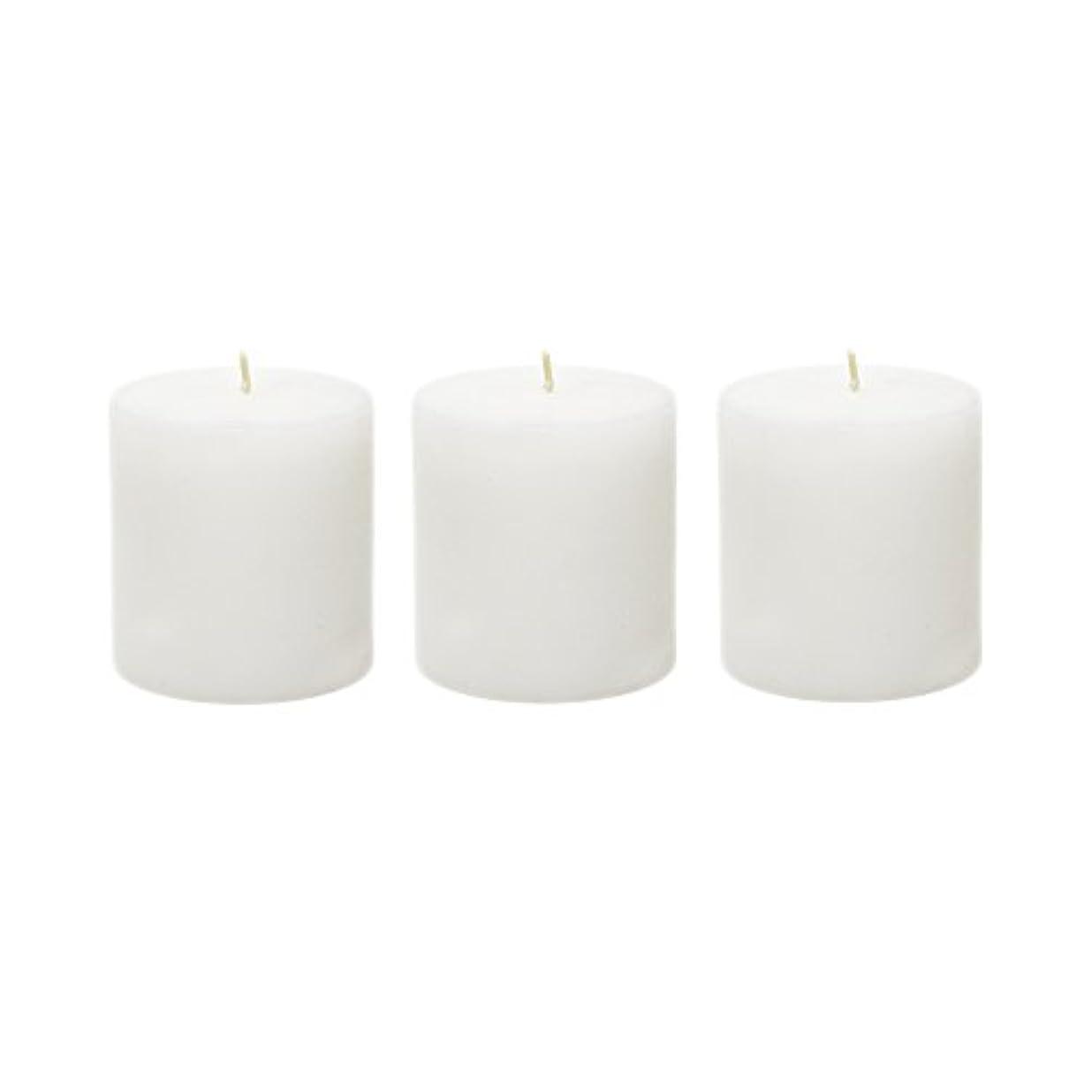 驚くべきルームおかしい(6, 7.6cm x 7.6cm Round) - Mega Candles - Unscented 7.6cm x 7.6cm Hand Poured Round Premium Pillar Candle - White