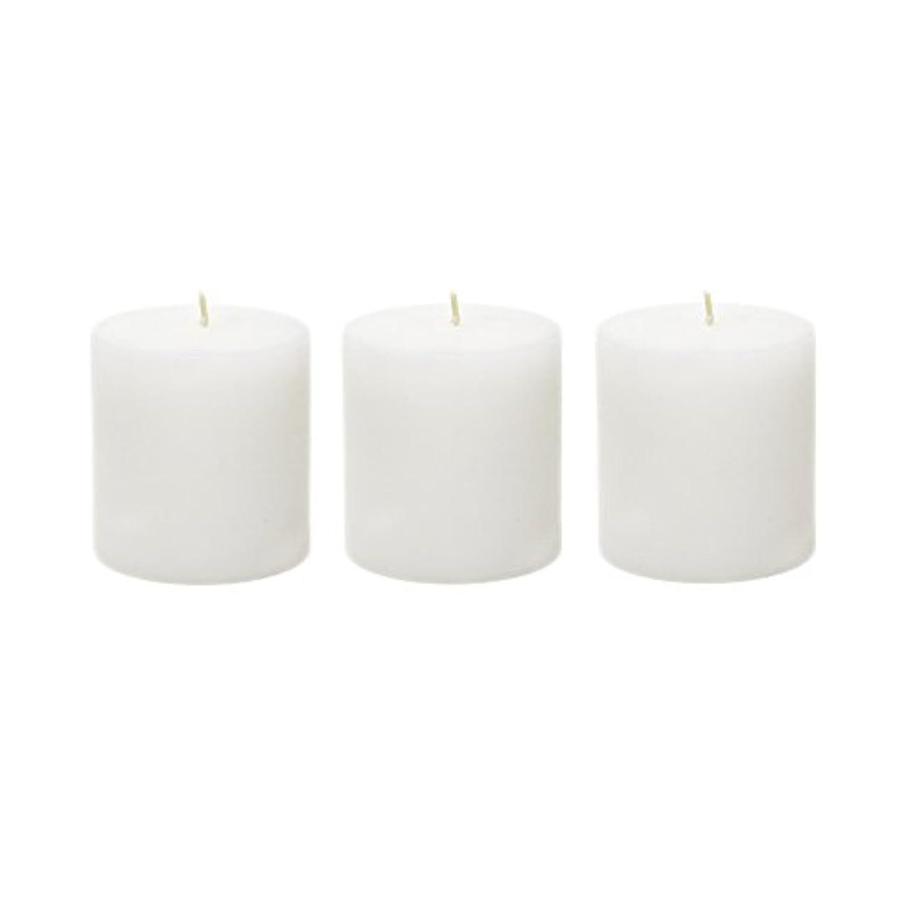 アリス遅れトロリーバス(6, 7.6cm x 7.6cm Round) - Mega Candles - Unscented 7.6cm x 7.6cm Hand Poured Round Premium Pillar Candle - White