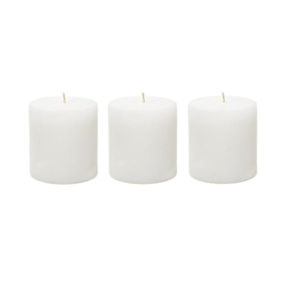 紫の洗練された退院(6, 7.6cm x 7.6cm Round) - Mega Candles - Unscented 7.6cm x 7.6cm Hand Poured Round Premium Pillar Candle - White