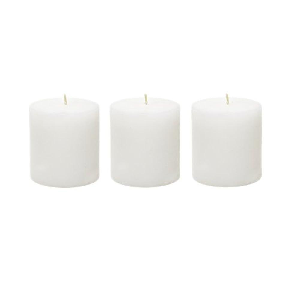 軽見物人リゾート(6, 7.6cm x 7.6cm Round) - Mega Candles - Unscented 7.6cm x 7.6cm Hand Poured Round Premium Pillar Candle - White
