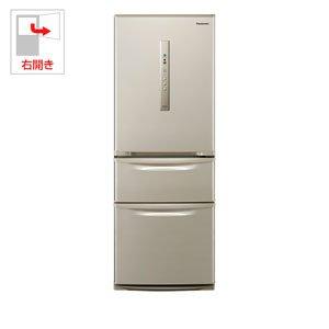 パナソニック 315L 3ドア冷蔵庫(シルキーゴールド)【右開...