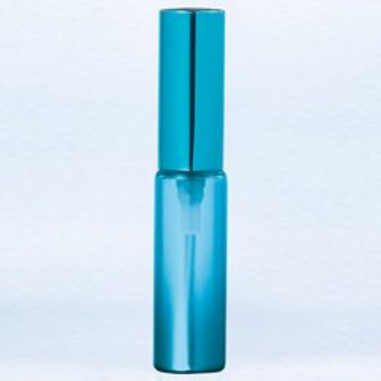 ヒロイン無駄な測定【ヤマダアトマイザー】グラスアトマイザー プラスチックポンプ 無地 60402 メタリックグラデ ブルー アルミキャップ ブルー 4ml