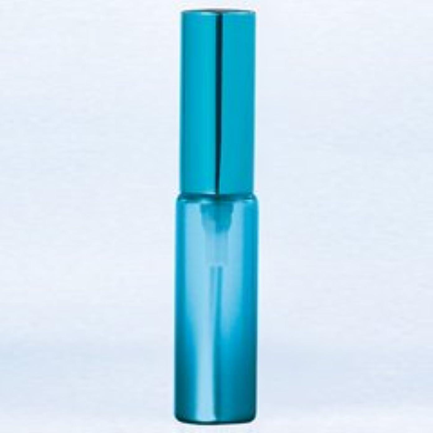 口径ルーアクセル【ヤマダアトマイザー】グラスアトマイザー プラスチックポンプ 無地 60402 メタリックグラデ ブルー アルミキャップ ブルー 4ml