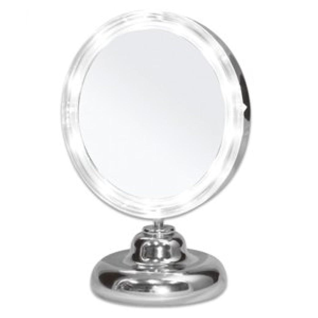 ロンドンジェットリゾートシミ?しわ?たるみ?毛穴が驚くほど良く見える!拡大鏡 5倍拡大+LEDライト付き 真実の鏡DX ミニS型 しっかり見えるから、メイクアップやお手入れがしやすい!どこでも使える電池式 角度調節可 真実の鏡 DX ミニS型
